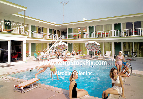 Three Coins Motel, Wildwood, NJ. 1967 pool. This motel was demolished and condominiums were built in its place.