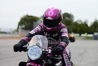 Sept. 30, 2012; Madison, IL, USA: NHRA pro stock motorcycle rider Eddie Krawiec after winning the Midwest Nationals at Gateway Motorsports Park. Mandatory Credit: Mark J. Rebilas-