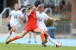 17 October 2013: North Carolina's Katie Bowen (NZL) (15) and Syracuse's Megan Hunsberger (240. The University of North Carolina Tar Heels hosted the Syracuse University Orangemen at Fetzer Field in Chapel Hill, NC in a 2013 NCAA Division I Women's Soccer match. UNC won the game 1-0.