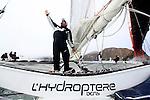 L'Hydroptère DCNS, Alain Thébault and his crew sailing in San Francisco.