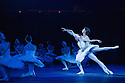 English National Ballet stage Derek Deane's in-the-round production of SWAN LAKE, at the Royal Albert Hall. Set design is by Peter Farmer and lighting by Howard Harrison. Odette / Odile -Daria Klimentová, Siegfried - Vadim Muntagirov, Rothbart - James Streeter.