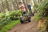 Off road Segway scooter fun at Go Ape, Sherwood Forest, Nottinghamshire