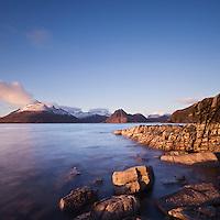 View from Elgol across Loch Scavaig towards Black Cuillin, isle of Skye, Scotland
