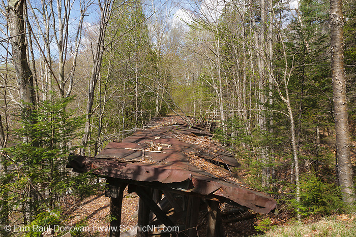Pemigewasset Wilderness - Trestle 16 (Black Brook Trestle) along the old East Branch & Lincoln Railroad in Lincoln, New Hampshire. This was a logging railroad which operated from 1893-1948.