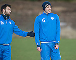St Johnstone Training&hellip;03.02.17<br />Joe Shaughnessy pictured with Richie Foster during training this morning at McDiarmid Park ahead of Sunday&rsquo;s game against Celtic.<br />Picture by Graeme Hart.<br />Copyright Perthshire Picture Agency<br />Tel: 01738 623350  Mobile: 07990 594431