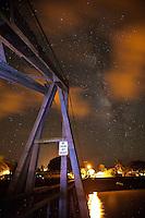 The Milky Way over the Hanapepe Swinging Bridge, Kauai