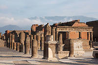 Comitium, Pompeii, 2nd century BC. Located on the South East side of the Forum, the Comitium was where the Pompeiians voted in elections