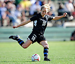 28 August 2009: University of Montreal Carabins' defenseman Marie-Michele Bouchard in action against the University of Vermont Catamounts during the 2009 TD Bank Women's Soccer Classic at Centennial Field in Burlington, Vermont. The Catamounts defeated the Carabins 3-2 in sudden death overtime. Mandatory Photo Credit: Ed Wolfstein Photo