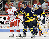 Joe Pereira (BU - 6), Fraser Allen (Merrimack - 2), Joe Cannata (Merrimack - 35) - The visiting Merrimack College Warriors tied the Boston University Terriers 1-1 on Friday, November 12, 2010, at Agganis Arena in Boston, Massachusetts.
