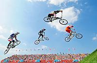 PICTURE BY ALEX BROADWAY /SWPIX.COM - Olympics - Day Fourteen - BMX, BMX Park, Olympic Park, London, England - 10/08/12 -
