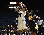 "Ole Miss' Nikki Byrd (22) vs. Central Michigan's Ja'mine Bracey (32) at C.M. ""Tad"" Smith Coliseum in Oxford, Miss. on Wednesday, December 14, 2011."