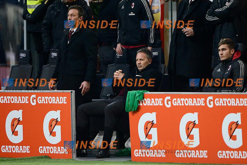 Sinisa Mihajlovic Milan in panchina rassegnato<br /> Milano 6-01-2016 Stadio Giuseppe Meazza - Football Calcio Serie A Milan - Bologna. Foto Giuseppe Celeste / Insidefoto
