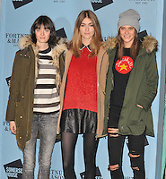 Sam Rollinson, Eve Delf and Charlotte Wiggins at the Skate at Somerset House with Fortnum &amp; Mason VIP launch party, Somerset House, The Strand, London, England, UK, on Wednesday 16 November 2016. <br /> CAP/CAN<br /> &copy;CAN/Capital Pictures /MediaPunch ***NORTH AND SOUTH AMERICAS ONLY***