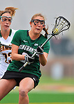 21 April 2012: Binghamton University Bearcat defender Kristin Pennino, a Junior from Wantagh, NY, in action against the University of Vermont Catamounts at Virtue Field in Burlington, Vermont. The Lady cats defeated the visiting Lady Bearcats 12-7. Mandatory Credit: Ed Wolfstein Photo