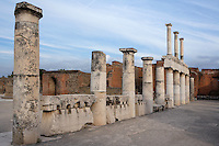 Colonnade around the Forum, 2nd century BC, Pompeii, of two-storey colonnaded porticoes with Doric columns