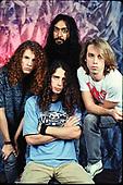 NEW YORK CITY, NY NOVEMBER 06: Jason Everman, Chris Cornell, Kim Thayil and Matt Cameron of Soundgarden pose during a photo session in studio on November 6, 1989 in New York City. photo by Larry Marano © 1989