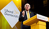 Lib Dem Spring Conference day 1 <br /> at the Echo Arena / BT Convention centre in Liverpool, Great Britain <br /> 14th March 2015 <br /> <br /> <br /> <br /> Vince Cable <br /> speech <br /> <br /> <br /> Photograph by Elliott Franks <br /> Image licensed to Elliott Franks Photography Services