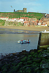 Whitby Harbour with St. Mary's Church &amp; the Abbey