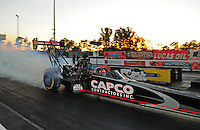Jan. 19, 2012; Jupiter, FL, USA: NHRA top fuel dragster driver Steve Torrence during testing at the PRO Winter Warmup at Palm Beach International Raceway. Mandatory Credit: Mark J. Rebilas-