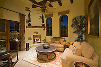 Charming guest casita room with fireplace