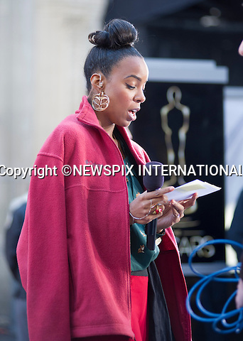 """KELLY ROWLAND.gets to grip with her script during final rehearsals before Oscar Day..""""The Destiny's Child"""" singer Kelly Rowland is the host for the red carpet pre-show at the 85th Annual Academy Awards, Hollywood, Los Angeles_23/02/2013.Rowland will be interviewing nominees and other A-list celebrities as they make their way down the carpet..Rowland's Oscar hosting follows from her New Orleans Super Bowl presenting..Mandatory Photo Credit: ©Dias/Newspix International..**ALL FEES PAYABLE TO: """"NEWSPIX INTERNATIONAL""""**..PHOTO CREDIT MANDATORY!!: NEWSPIX INTERNATIONAL(Failure to credit will incur a surcharge of 100% of reproduction fees)..IMMEDIATE CONFIRMATION OF USAGE REQUIRED:.Newspix International, 31 Chinnery Hill, Bishop's Stortford, ENGLAND CM23 3PS.Tel:+441279 324672  ; Fax: +441279656877.Mobile:  0777568 1153.e-mail: info@newspixinternational.co.uk"""