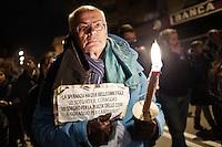 L'Aquila 05/04/2013: A 4 anni dal terribile terremoto che scosse l'intero territorio aquilano, si ricorda con una fiaccolata simbolo le 309 vittime. Foto Adamo Di Loreto