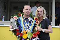 KAATSEN: LEEUWARDEN: 17-09-2016, Oldehovepartij,  Johan van der Meulen (koning) en zijn vriendin, ©foto Martin de Jong