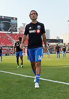 July 3, 2013: Montreal Impact defender Alessandro Nesta #14 leaves the pitch after the warm-up during an MLS game between Toronto FC and Montreal Impact at BMO Field in Toronto, Ontario Canada.<br /> The game ended in a 3-3 draw.