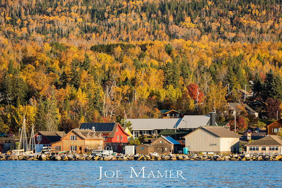 Grand Marais, Minnesota in autumn.