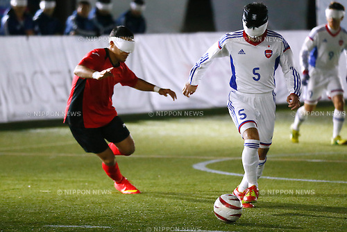 Tomonari Kuroda (JPN), NOVEMBER 18, 2014 - Football 5-a-sider : IBSA Blind Football World Championships 2014 Group A match between Japan 0-0 Morocco at National Yoyogi Stadium Futsal Court, Tokyo, Japan. [1180]