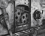 The gears of a coal loading machine of a power plant