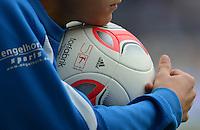 FUSSBALL  1. BUNDESLIGA  SAISON 2012/2013  2. SPIELTAG    01.09.2012 TSG 1899 Hoffenheim  - Eintracht Frankfurt Adidas Torfabrik Ball mit der Aufschrift,  50 Jahre Bundeliga 1963-2013