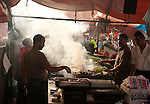 Food Stall, Djemaa el-Fna, main square, Marrakesh, Morocco, market