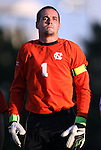 31 August 2012: UNC's Scott Goodwin. The University of North Carolina Tar Heels defeated the West Virginia University Mountaineers 1-0 at Fetzer Field in Chapel Hill, North Carolina in a 2012 NCAA Division I Men's Soccer game.