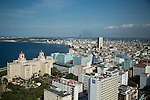 HAVANA, CUBA -- MARCH 23, 2015:  An overview of Havana, Cuba on March 23, 2015. Photograph by Michael Nagle