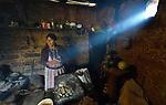 Audelina Vasquez Lopez, a Maya Mam woman, cooks in her home in Tuixcajchis, a small village in Comitancillo, Guatemala.