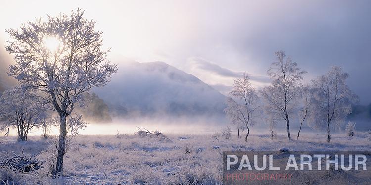 Deep winter in the Scottish Highlands