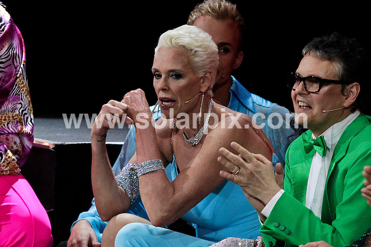 **ALL ROUND PICTURES FROM SOLARPIX.COM**.**UK SYNDICATION RIGHTS ONLY**.Brigitte Nielsen makes a blowjob gesture at the Jury after bad comments, during the German version of the TV programme Dancing With The Stars - Let's Dance -final. 28 May 2010.This pic: Brigitte Nielsen..JOB REF: 11355 GHJ       DATE: 28_05_2010.**MUST CREDIT SOLARPIX.COM OR DOUBLE FEE WILL BE CHARGED**.**MUST NOTIFY SOLARPIX OF ONLINE USAGE**.**CALL US ON: +34 952 811 768 or LOW RATE FROM UK 0844 617 7637**