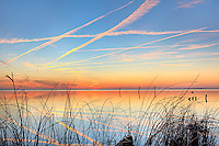 Picture of the Outer Banks Currituck sound at sunset.