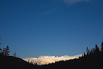 Clouds approaching from the east at sunset in the Big Sky Country
