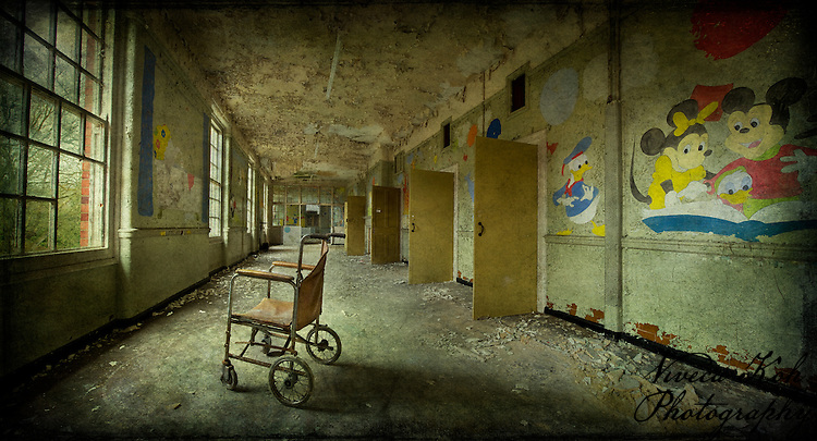 West Park Asylum children's ward with wheelchair