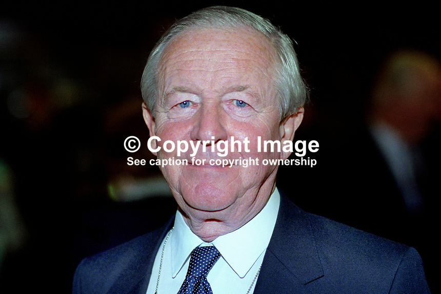 Sir Marcus Fox, MP, Conservative Party, UK, politician, 19921068MF.<br /> <br /> Copyright Image from Victor Patterson, 54 Dorchester Park, Belfast, UK, BT9 6RJ<br /> <br /> t1: +44 28 9066 1296 (from Rep of Ireland 048 9066 1296)<br /> t2: +44 28 9002 2446 (from Rep of Ireland 048 9002 2446)<br /> m: +44 7802 353836<br /> <br /> e1: victorpatterson@me.com<br /> e2: victorpatterson@gmail.com<br /> <br /> The use of any of my copyright images is subject to my Terms &amp; Conditions. It is IMPORTANT that you familiarise yourself with them. They are available at my website, victorpatterson.com.<br /> <br /> None of my copyright images may be used on the Internet unless they are visibly watermarked, i.e. &copy; Victor Patterson within the body of the image. My metadata, denoting my copyright must NOT be deleted. <br /> <br /> Web use is extra at currently recommended NUJ rates. Maximum permitted web size is<br />  400kb. <br /> <br /> Images must not be passed on to a third party - they are for the use of the authorised recipient only.