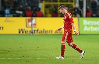 FUSSBALL   1. BUNDESLIGA   SAISON 2011/2012   30. SPIELTAG Borussia Dortmund - FC Bayern Muenchen            11.04.2012 Abgang: Bastian Schweinsteiger (FC Bayern Muenchen) ist nach dem Abpfiff enttaeuscht