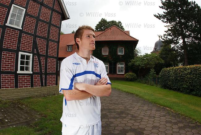 Steven Davis at the team hotel Klosterpforte in Marienfeld, Germany