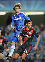 FUSSBALL   CHAMPIONS LEAGUE   SAISON 2011/2012     13.08.2011 FC Chelsea London - Bayer 04 Leverkusen David Luiz (li, FC Chelsea) gegen Michael Ballack (Bayer 04 Leverkusen)