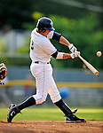 19 June 2008: Vermont Lake Monsters infielder Steve Souza at bat against the Oneonta Tigers at historic Centennial Field in Burlington, Vermont. The Tigers defeated the Lake Monsters 13-8 in the rubber match of their three-game season opening series in Vermont...Mandatory Credit: Ed Wolfstein Photo