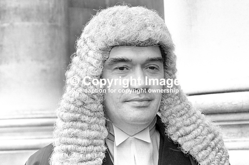 William John Staunton, barrister, N Ireland, UK, taken October 1971. He shortly afterwards he became a magistrate.One year later on 11th October 1972  he was seriously injured in a Provisional IRA gun attack. The shooting occured as Mr Staunton was dropping off his two daughters and two of their friends at St Dominic's High School, on the Falls Road in West Belfast. He died from his injuries 15 weeks later on 25th January 1973. 1971100463a<br /> <br /> Copyright Image from Victor Patterson, 54 Dorchester Park, Belfast, UK, BT9 6RJ<br /> <br /> t1: +44 28 9066 1296 (from Rep of Ireland 048 9066 1296)<br /> t2: +44 28 9002 2446 (from Rep of Ireland 048 9002 2446)<br /> m: +44 7802 353836<br /> <br /> e1: victorpatterson@me.com<br /> e2: victorpatterson@gmail.com<br /> <br /> The use of my copyright images is subject to my Terms &amp; Conditions.<br /> <br /> It is IMPORTANT that you familiarise yourself with them. They are available on my website at www.victorpatterson.com.<br /> <br /> None of my copyright images may be used on a website unless they are visibly watermarked, i.e. &copy; Victor Patterson within the body of the visible image. Metadata denoting my copyright must NOT be deleted. <br /> <br /> Web use is extra at currently recommended NUJ rates.