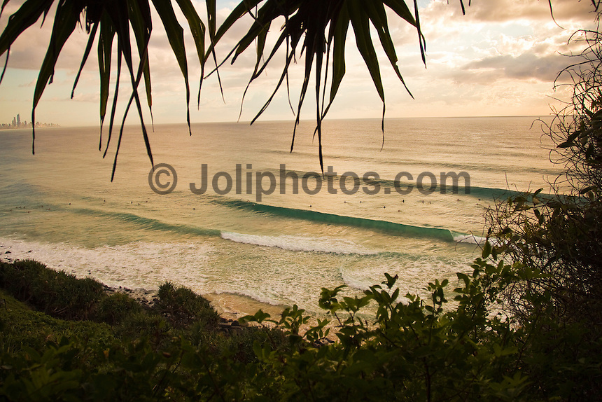 Sunday May 2, 2010.Coolangatta, Queensland Australia. Clean swell lines from the south east graced the southern end of the Gold Coast today. Light winds added to the mix creating fun waves in the meter plus range. Photo: joliphotos.com