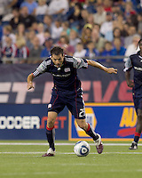 New England Revolution midfielder Marko Perovic (29) controls the ball and starts downfield. The New England Revolution tied Columbus Crew, 2-2, at Gillette Stadium on September 25, 2010.