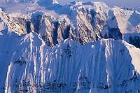 The Grand Parapet, Wrangell St. Elias Mountain range, Wrangell St. Elias National Park, Alaska.